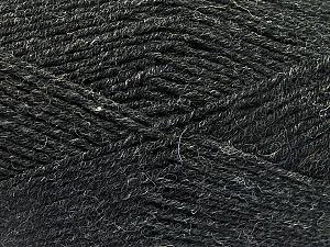 Fiber Content 70% Acrylic, 30% Wool, Brand ICE, Anthracite Black, Yarn Thickness 4 Medium  Worsted, Afghan, Aran, fnt2-52602
