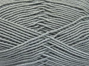 Fiber Content 70% Acrylic, 30% Wool, Light Grey, Brand ICE, Yarn Thickness 4 Medium  Worsted, Afghan, Aran, fnt2-52604