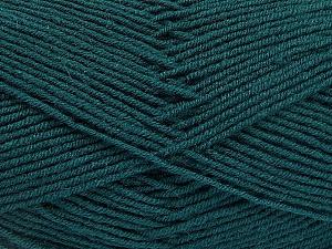 Fiber Content 70% Acrylic, 30% Wool, Brand ICE, Dark Green, Yarn Thickness 4 Medium  Worsted, Afghan, Aran, fnt2-52608