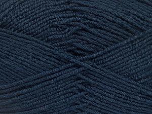 Fiber Content 70% Acrylic, 30% Wool, Brand ICE, Dark Navy, Yarn Thickness 4 Medium  Worsted, Afghan, Aran, fnt2-52611