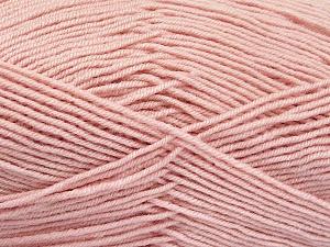 Fiber Content 70% Acrylic, 30% Wool, Light Pink, Brand ICE, Yarn Thickness 4 Medium  Worsted, Afghan, Aran, fnt2-52617