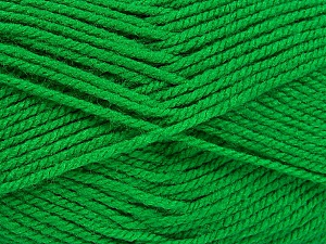 Worsted  Fiber Content 100% Acrylic, Brand ICE, Green, Yarn Thickness 4 Medium  Worsted, Afghan, Aran, fnt2-52672