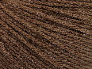 Fiber Content 55% Baby Alpaca, 45% Superwash Extrafine Merino Wool, Brand ICE, Brown, Yarn Thickness 3 Light  DK, Light, Worsted, fnt2-52762