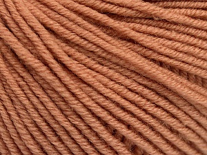 SUPERWASH MERINO EXTRAFINE is a DK weight, 100% extra fine Italian-style superwash merino wool making it extremely soft, as well as durable.  High twist and smooth texture gives unbelievable stitch definition making this a good choice for any project that you want to show off your stitch work. Projects knit and crocheted in SUPERWASH MERINO EXTRAFINE are machine washable! Lay flat to dry. Do not bleach. Do not iron Fiber Content 100% Superwash Extrafine Merino Wool, Light Salmon, Brand ICE, Yarn Thickness 3 Light  DK, Light, Worsted, fnt2-52771