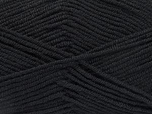 Fiber Content 50% Bamboo, 50% Acrylic, Brand ICE, Black, Yarn Thickness 2 Fine  Sport, Baby, fnt2-53087