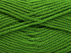 Fiber Content 100% Acrylic, Light Green, Brand ICE, Yarn Thickness 5 Bulky  Chunky, Craft, Rug, fnt2-53181