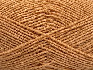 Fiber Content 70% Acrylic, 30% Wool, Light Brown, Brand ICE, Yarn Thickness 4 Medium  Worsted, Afghan, Aran, fnt2-53713