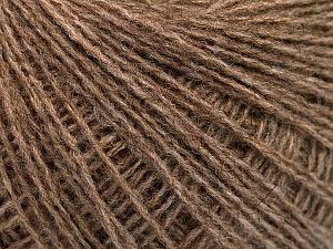 Fiber Content 50% Acrylic, 25% Alpaca, 25% Merino Wool, Brand ICE, Camel Melange, Yarn Thickness 2 Fine  Sport, Baby, fnt2-53838