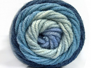 Fiber Content 70% Acrylic, 30% Wool, Brand ICE, Blue Shades, Yarn Thickness 5 Bulky  Chunky, Craft, Rug, fnt2-54068