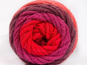Fiber Content 70% Acrylic, 30% Wool, Salmon, Red, Orchid, Maroon, Brand ICE, Yarn Thickness 5 Bulky  Chunky, Craft, Rug, fnt2-54071