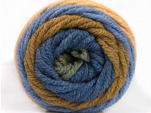 Fiber Content 70% Acrylic, 30% Wool, Khaki, Brand ICE, Green, Dark Cream, Blue, Yarn Thickness 5 Bulky  Chunky, Craft, Rug, fnt2-54072