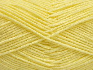 Fiber Content 50% Bamboo, 50% Acrylic, Light Yellow, Brand ICE, Yarn Thickness 2 Fine  Sport, Baby, fnt2-54130