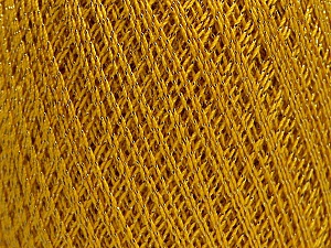 Ne: 10/3 Nm: 17/3 Fiber Content 96% Mercerised Cotton, 4% Metallic Lurex, Brand ICE, Gold, Yarn Thickness 1 SuperFine  Sock, Fingering, Baby, fnt2-54247