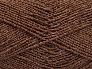 Fiber Content 70% Acrylic, 30% Wool, Brand ICE, Brown, Yarn Thickness 4 Medium  Worsted, Afghan, Aran, fnt2-54433