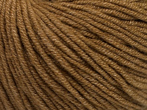 Fiber Content 50% Acrylic, 50% Cotton, Light Brown, Brand ICE, Yarn Thickness 3 Light  DK, Light, Worsted, fnt2-54666