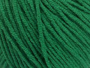 Fiber Content 50% Acrylic, 50% Cotton, Brand ICE, Green, Yarn Thickness 3 Light  DK, Light, Worsted, fnt2-54668