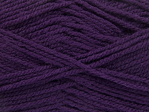Worsted  Fiber Content 100% Acrylic, Purple, Brand ICE, Yarn Thickness 4 Medium  Worsted, Afghan, Aran, fnt2-54670