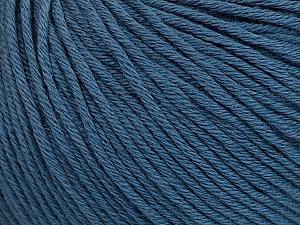 Global Organic Textile Standard (GOTS) Certified Product. CUC-TR-017 PRJ 805332/918191 Fiber Content 100% Organic Cotton, Indigo Blue, Brand ICE, Yarn Thickness 3 Light  DK, Light, Worsted, fnt2-54796