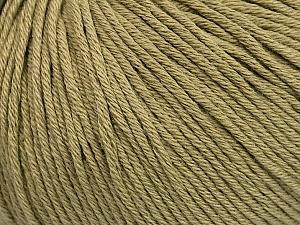 Global Organic Textile Standard (GOTS) Certified Product. CUC-TR-017 PRJ 805332/918191 Fiber Content 100% Organic Cotton, Light Khaki, Brand ICE, Yarn Thickness 3 Light  DK, Light, Worsted, fnt2-55218