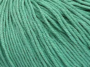 Global Organic Textile Standard (GOTS) Certified Product. CUC-TR-017 PRJ 805332/918191 Fiber Content 100% Organic Cotton, Brand ICE, Emerald Green, Yarn Thickness 3 Light  DK, Light, Worsted, fnt2-55219