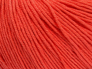 Global Organic Textile Standard (GOTS) Certified Product. CUC-TR-017 PRJ 805332/918191 Fiber Content 100% Organic Cotton, Salmon, Brand ICE, Yarn Thickness 3 Light  DK, Light, Worsted, fnt2-55220