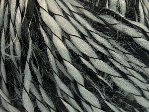 Fiber Content 90% Acrylic, 10% Polyamide, Brand ICE, Grey, Black, Yarn Thickness 3 Light  DK, Light, Worsted, fnt2-55260