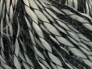 Fiber Content 90% Acrylic, 10% Polyamide, Brand ICE, Grey, Black, Yarn Thickness 3 Light  DK, Light, Worsted, fnt2-55260