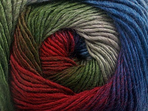 Fiber Content 50% Acrylic, 50% Wool, Red, Purple, Brand ICE, Grey, Green, Blue, Yarn Thickness 2 Fine  Sport, Baby, fnt2-55520