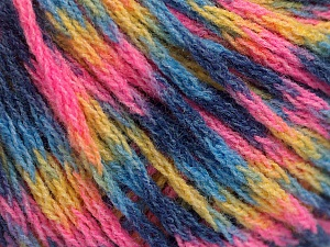 Fiber Content 60% Acrylic, 40% Wool, Yellow, Pink, Brand ICE, Blue Shades, Yarn Thickness 3 Light  DK, Light, Worsted, fnt2-55535