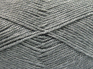 Fiber Content 100% Acrylic, Light Grey, Brand ICE, Yarn Thickness 2 Fine  Sport, Baby, fnt2-55572