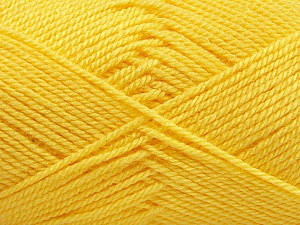 Fiber Content 100% Acrylic, Light Yellow, Brand ICE, Yarn Thickness 2 Fine  Sport, Baby, fnt2-55720