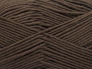 Fiber Content 70% Acrylic, 30% Wool, Brand ICE, Dark Brown, Yarn Thickness 4 Medium  Worsted, Afghan, Aran, fnt2-55752