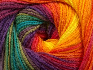 Fiber Content 100% Acrylic, Rainbow, Brand ICE, Yarn Thickness 3 Light  DK, Light, Worsted, fnt2-55959
