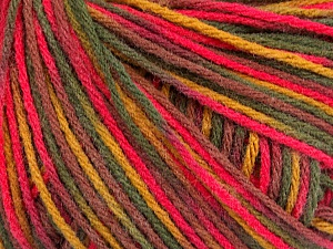 Fiber Content 50% Acrylic, 50% Wool, Pink, Maroon, Brand ICE, Green Shades, Yarn Thickness 3 Light  DK, Light, Worsted, fnt2-56206
