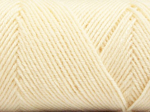 Fiber Content 50% Wool, 50% Acrylic, Brand ICE, Cream, Yarn Thickness 3 Light  DK, Light, Worsted, fnt2-56424