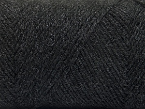 Fiber Content 50% Acrylic, 50% Wool, Brand ICE, Anthracite Black, Yarn Thickness 3 Light  DK, Light, Worsted, fnt2-56425
