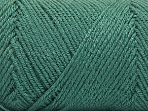 Fiber Content 50% Wool, 50% Acrylic, Sea Green, Brand ICE, Yarn Thickness 3 Light  DK, Light, Worsted, fnt2-56432