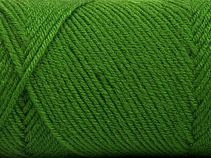 Fiber Content 50% Wool, 50% Acrylic, Brand ICE, Green, Yarn Thickness 3 Light  DK, Light, Worsted, fnt2-56433