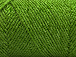 Fiber Content 50% Wool, 50% Acrylic, Light Green, Brand ICE, Yarn Thickness 3 Light  DK, Light, Worsted, fnt2-56434