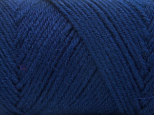 Fiber Content 50% Wool, 50% Acrylic, Navy, Brand ICE, Yarn Thickness 3 Light  DK, Light, Worsted, fnt2-56435