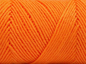 Fiber Content 50% Wool, 50% Acrylic, Orange, Brand ICE, Yarn Thickness 3 Light  DK, Light, Worsted, fnt2-56438