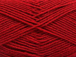 Fiber Content 70% Acrylic, 30% Wool, Brand ICE, Dark Red, Yarn Thickness 4 Medium  Worsted, Afghan, Aran, fnt2-56483