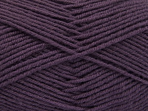 Fiber Content 70% Acrylic, 30% Wool, Purple, Brand ICE, Yarn Thickness 4 Medium  Worsted, Afghan, Aran, fnt2-56484