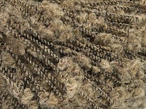 Fiber Content 60% Superwash Merino Wool, 25% Baby Alpaca, 2% Elastan, 13% Polyamide, Brand ICE, Dark Beige, Black, fnt2-56539