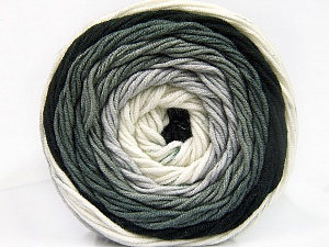 Fiber Content 100% Acrylic, White, Brand ICE, Grey, Black, Yarn Thickness 4 Medium  Worsted, Afghan, Aran, fnt2-56543