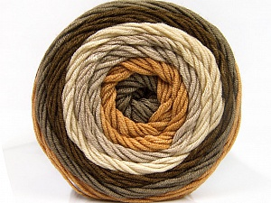 Fiber Content 100% Acrylic, Brand ICE, Grey, Cream, Brown Shades, Yarn Thickness 4 Medium  Worsted, Afghan, Aran, fnt2-56544