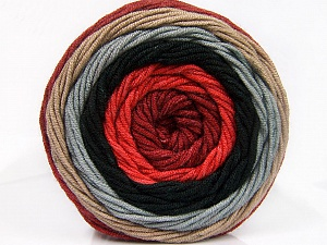 Fiber Content 100% Acrylic, Salmon, Brand ICE, Grey, Camel, Burgundy, Black, Yarn Thickness 4 Medium  Worsted, Afghan, Aran, fnt2-56550