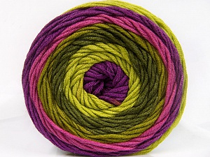 Fiber Content 100% Acrylic, Purple, Orchid, Brand ICE, Green Shades, Yarn Thickness 4 Medium  Worsted, Afghan, Aran, fnt2-56552