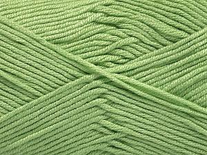 Fiber Content 50% Acrylic, 50% Bamboo, Mint Green, Brand ICE, Yarn Thickness 2 Fine  Sport, Baby, fnt2-56575