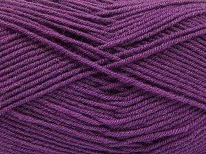 Fiber Content 70% Acrylic, 30% Wool, Purple, Brand ICE, Yarn Thickness 4 Medium  Worsted, Afghan, Aran, fnt2-56863